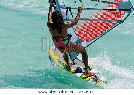 Windsurf In The Lagoon