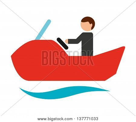 jet ski isolated icon design, vector illustration  graphic