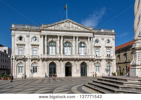 Lisbon. Portugal. 07 of July 2016 View of the city hall of Lisbon on Praça do Município 1149-014 Lisbon in Portugal. photography by Ricardo Rocha.