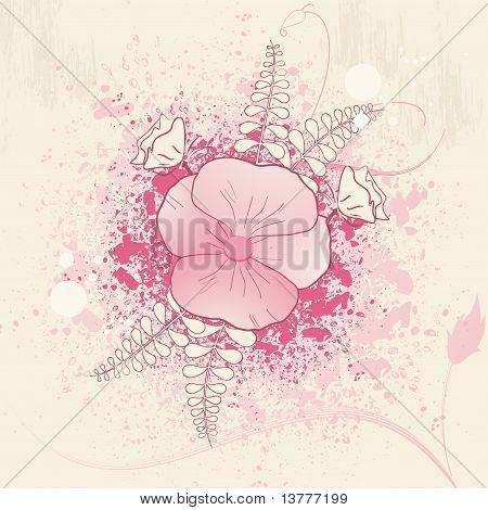 Floral Grunge Background