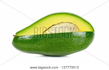 Avocado Isolated On The White Background.