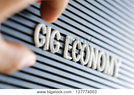 image of Gig Economy concept background texture