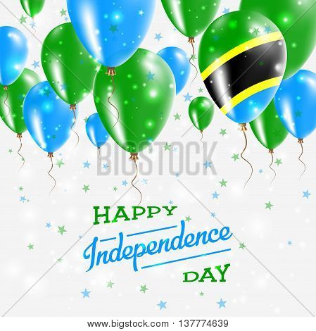 Tanzania, United Republic Of Vector Patriotic Poster. Independence Day Placard With Bright Colorful