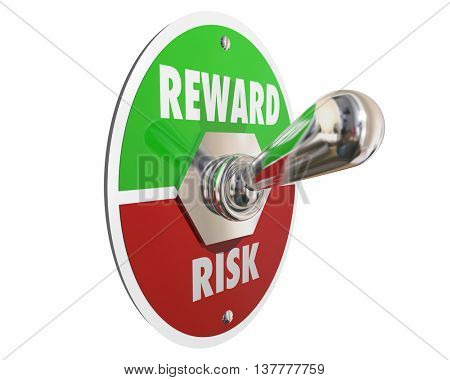 Risk Vs Reward Return on Investment Switch 3d Illustration