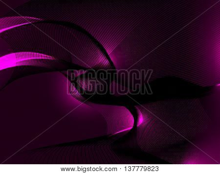 On a dark purple background crossing lines