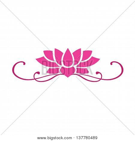 Lotus Flower Bloom Vector Logo Illustration Clipart