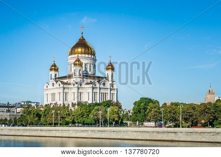 Russian Orthodox Cathedral Of Christ The Saviour In Moscow