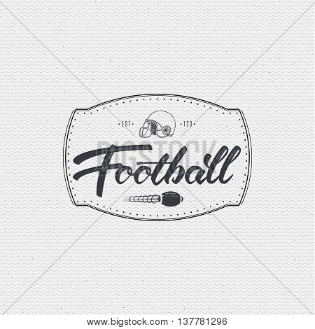 American football - insignia is made with the help of lettering and calligraphy skills, use the right typography and composition.