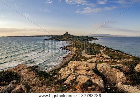 Sardinia, Italy: San Giovanni di Sinis in beautiful sunset