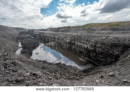View upon a coal open pit in russia