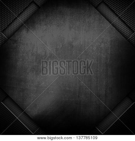 rhombus metal plate background