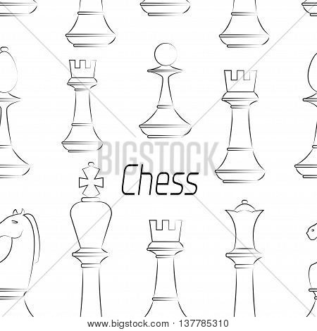 Chess board. Game. Pattern Vector illustration EPS 10
