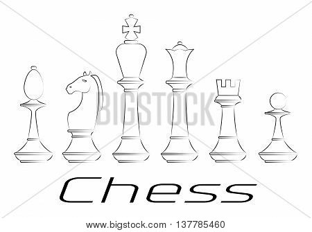 Chess board. Game. Icon set. Vector illustration EPS 10
