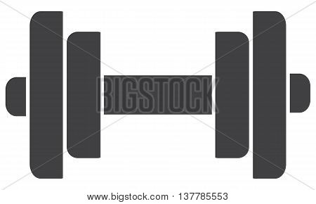 Barbell with weight plates symbol weights vector strength weight training
