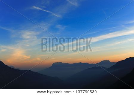Dawn In The French Alps