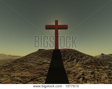 Cross On A Hill Clear Sjy