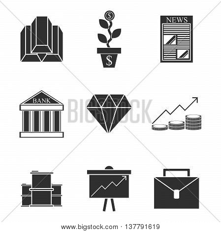 Stock exchange icons set. Vector illustration, EPS 10