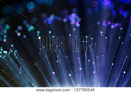 Blue fibre optical burst