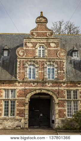 LEUVEN, BELGIUM - MARCH 7, 2015: Old building of the Park abbey near Leuven, Belgium