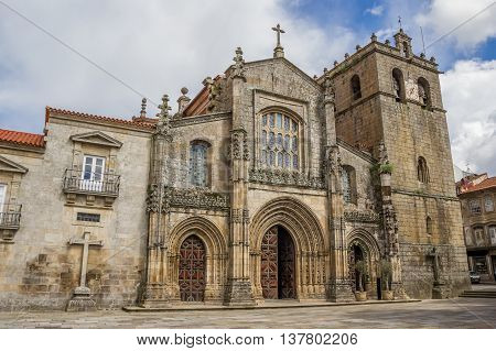 LAMEGO, PORTUGAL - APRIL 22, 2016: The Cathedral of Our Lady of the Assumption in Lamego, Portugal