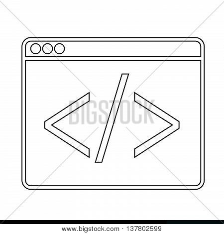 an images of Web Browser Icon illustration design