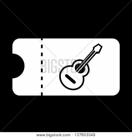 an images of Concert Ticket icon illustration design
