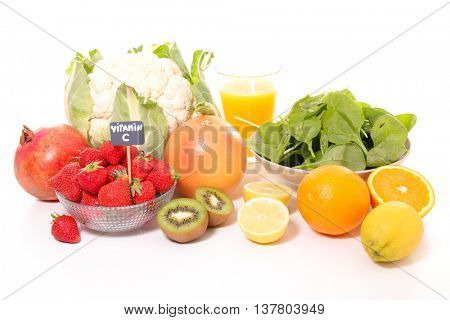 assorted food with vitamin C