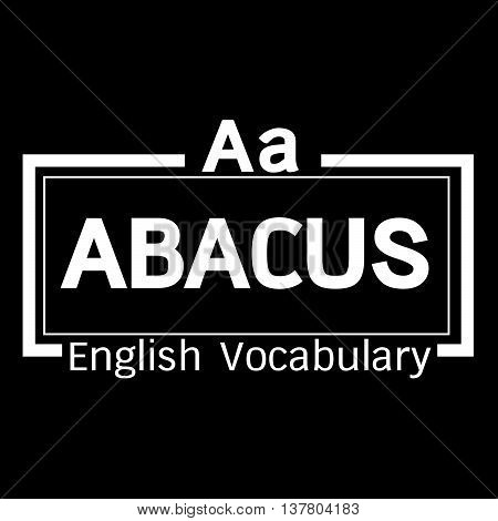 an images of ABACUS english word vocabulary illustration design