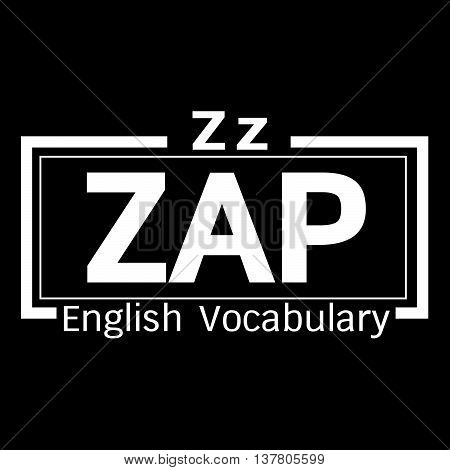 an images of ZAP english word vocabulary illustration design