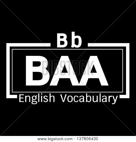 an images of BAA english word vocabulary illustration design