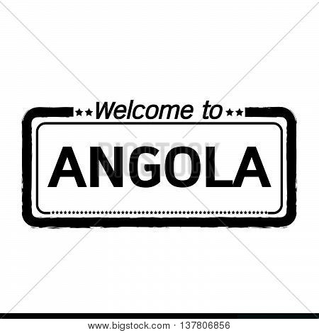 an images of Welcome to ANGOLA illustration design