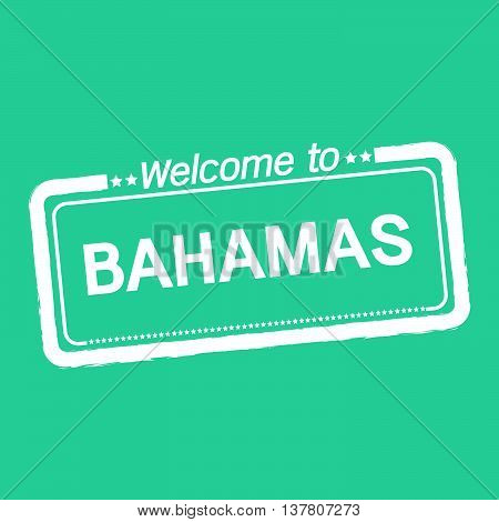 an images of Welcome to BAHAMAS illustration design