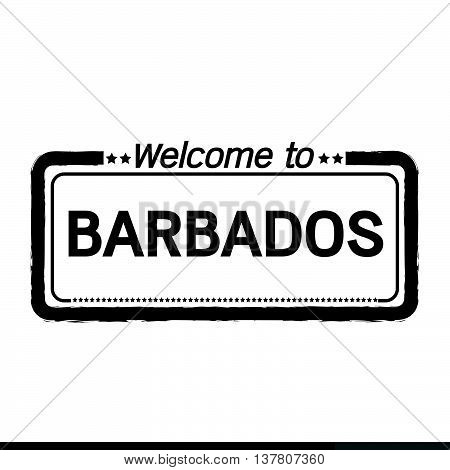 an images of Welcome to BARBADOS illustration design