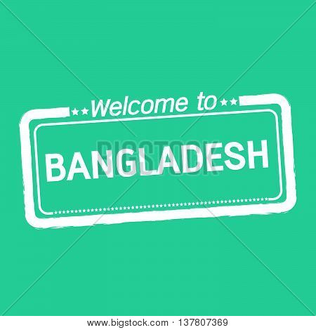 an images of Welcome to BANGLADESH illustration design
