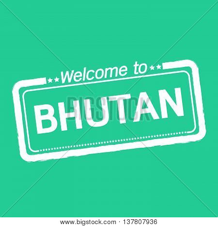 an images of Welcome to BHUTAN illustration design
