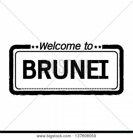 an images of Welcome to BRUNEI illustration design