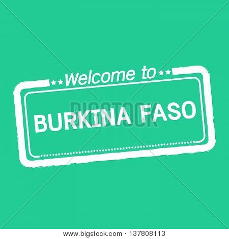 an images of Welcome to BURKINA FASO illustration design