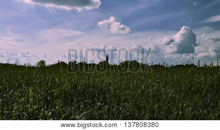 Landscape of Lombardy holiday in the countryside the hills of the Brianza in the province of Como