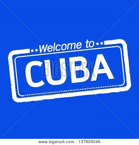 an images of Welcome to CUBA illustration design