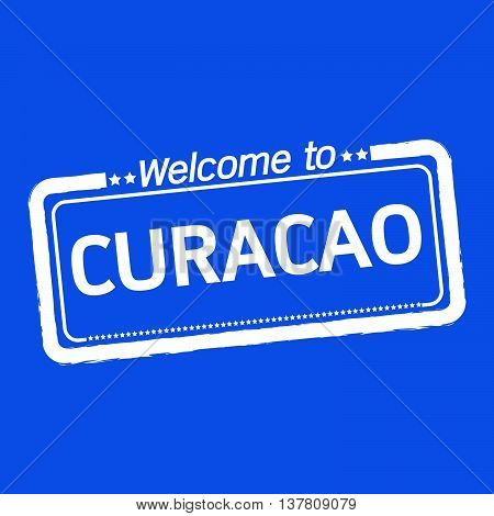 an images of Welcome to CURACAO illustration design