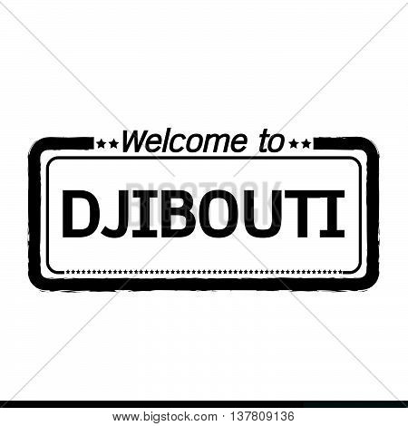 an images of Welcome to DJIBOUTI illustration design