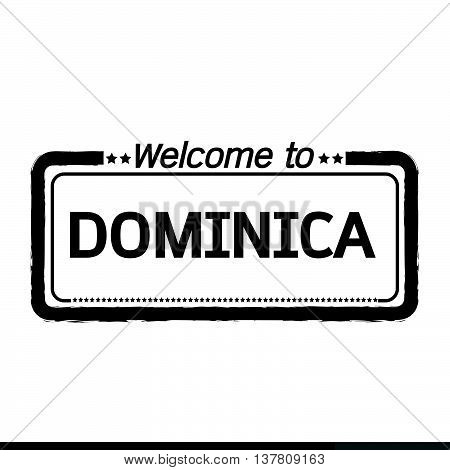 an images of Welcome to DOMINICA illustration design