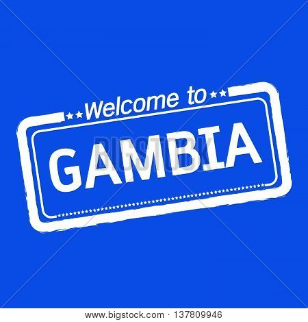 an images of Welcome to GAMBIA illustration design