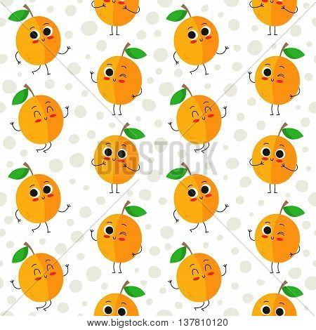 Apricots, Vector Seamless Pattern