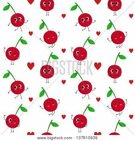 Cherry, Vector Seamless Pattern