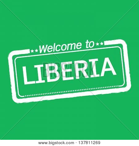 an images of Welcome to LIBERIA illustration design