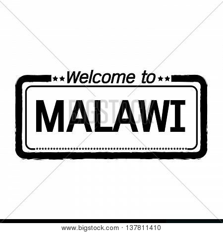 an images of Welcome to MALAWI illustration design
