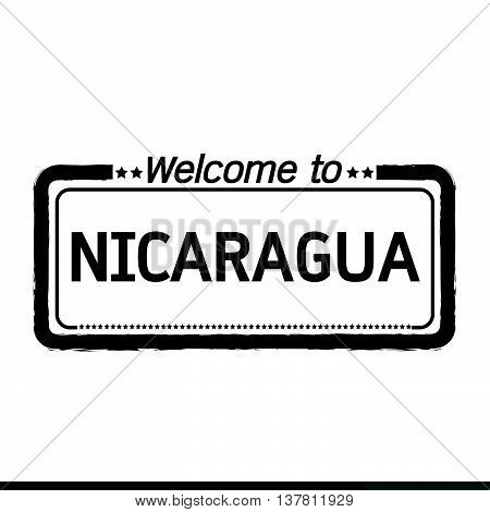 an images of Welcome to NICARAGUA illustration design