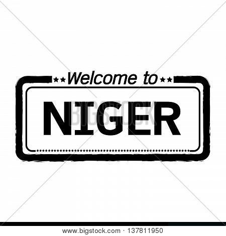 an images of Welcome to NIGER illustration design