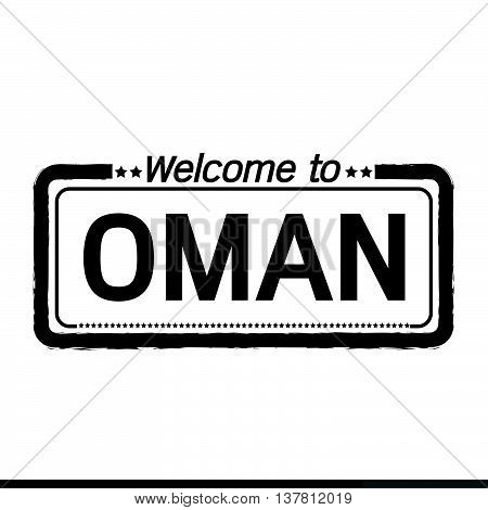 an images of Welcome to OMAN illustration design